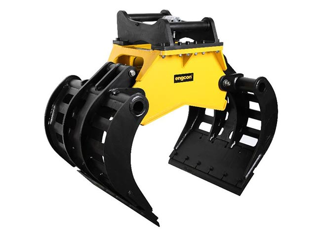 Engcon SK10 Stone Sorting Grapple