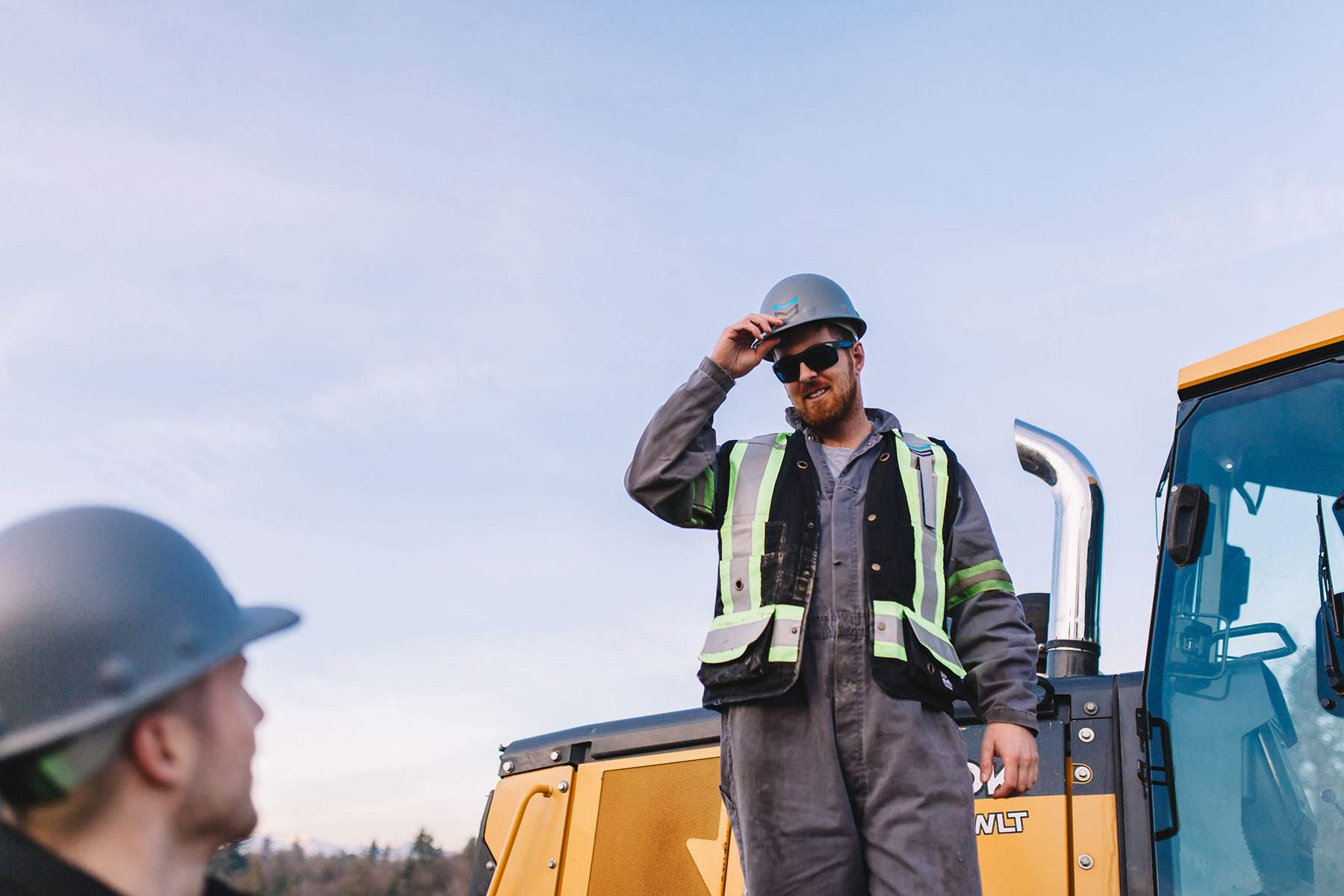 Construction worker on a jobsite.