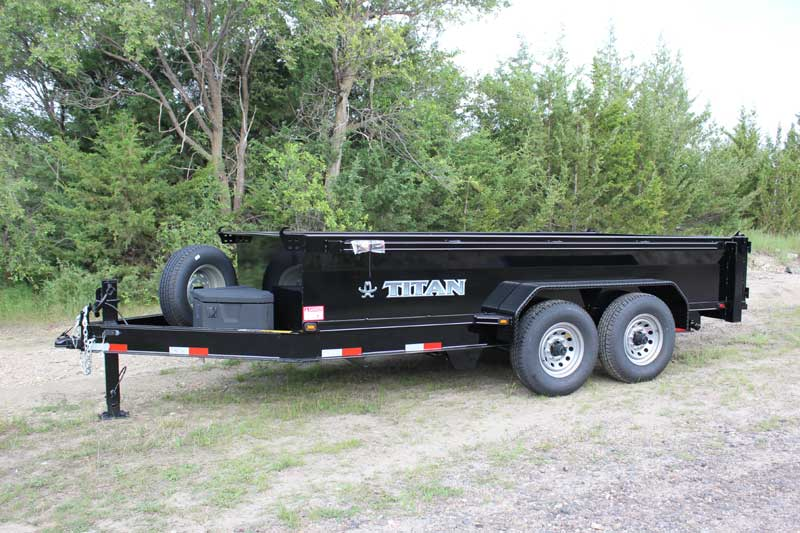 14 ft Titan Consumer Hydraulic Dump Trailer